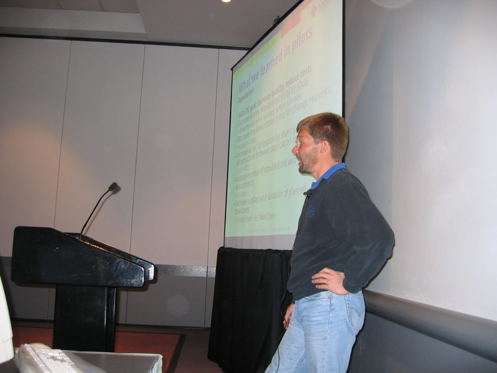 Me in 2004 talking about N1 at a Sun Conference