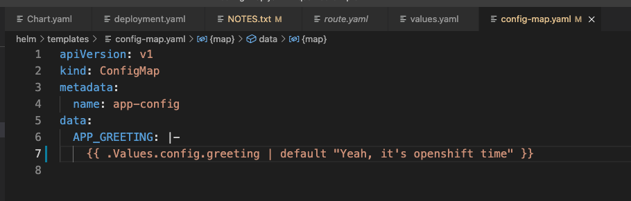 Image 7: How to access the variables from values.yaml in a template