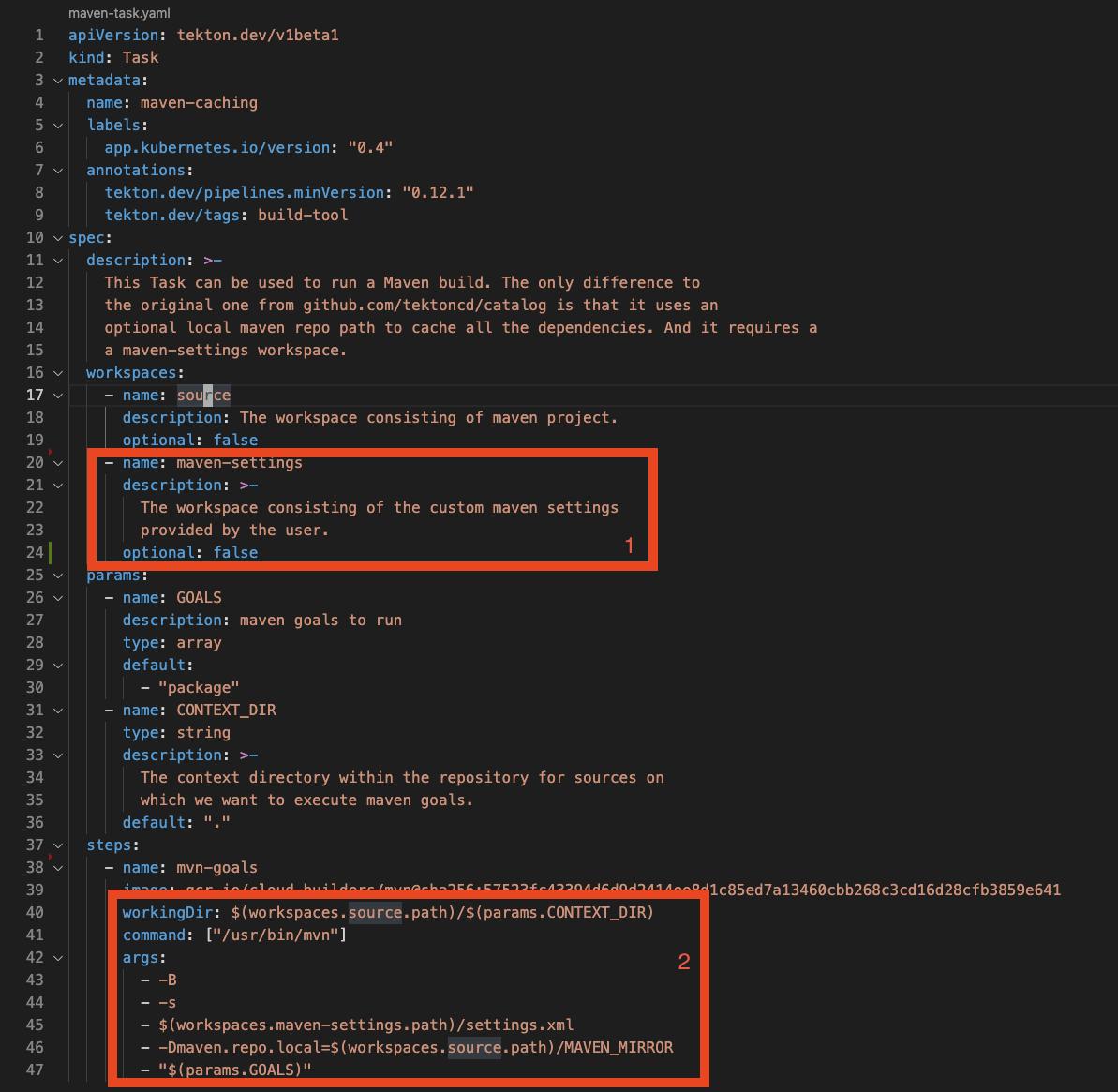 Image 9: Simplified Maven Task