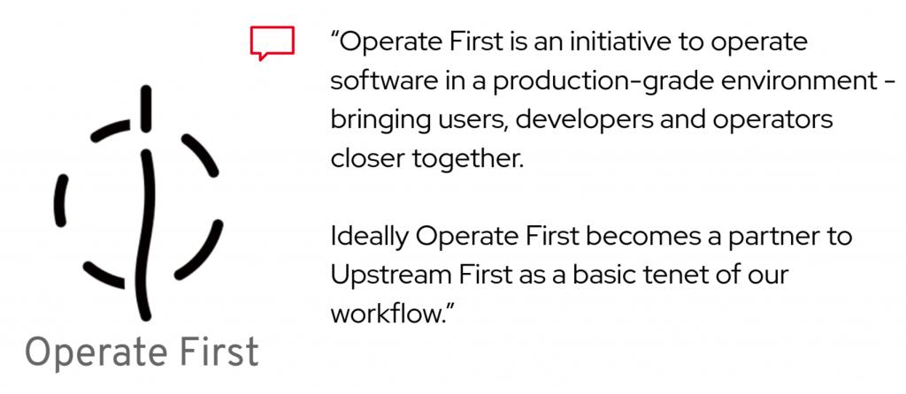 Operate first initiative